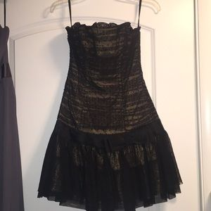 Betsey Johnson strapless short evening dress!